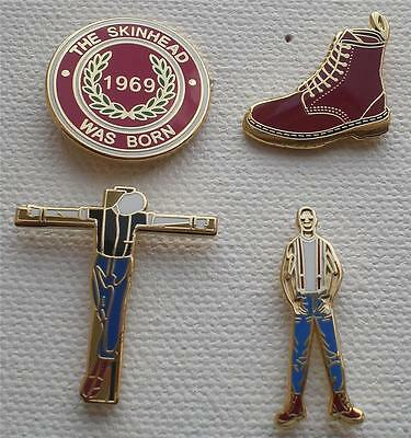 Skinhead Ska Reggae Badge - 4 Badge Set