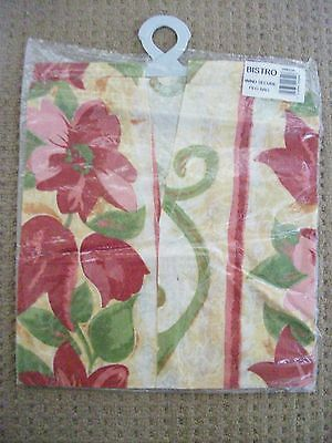 Bistro Wind Secure Peg Bag ~ Cerise Floral