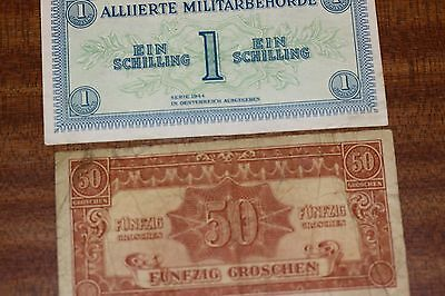 Austria allied military authority 2 banknote 1944