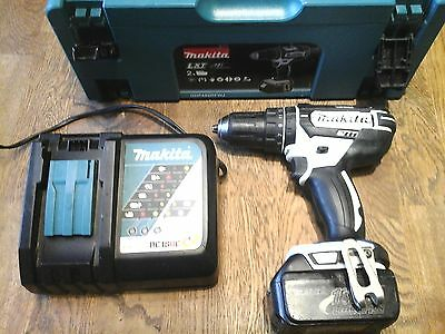 Quality Makita Dhp482 Cordless 18V Lithium-Ion Hammer Drill With Case + Batter
