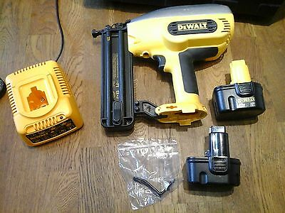 Dewalt 12V Dc602 Second Fix Cordless Nail Gun 2 Batteries & Case..timber Shed 1