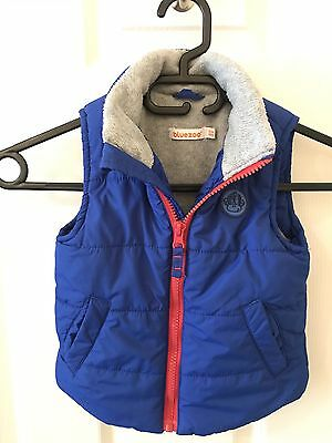 Bluezoo Gilet Toddler 18-24 Months (Blue)
