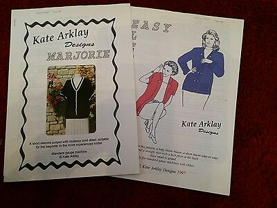 2 machine knit patts by Kate Arklay please see description and photos
