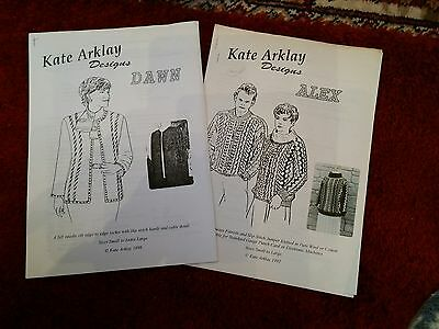 2 machine knit patts by Kate Arklay. please see description and photos