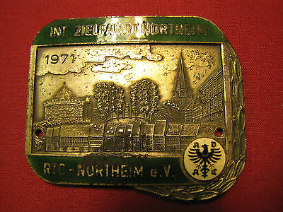 Seltene Adac Plakette Internationale  Zielfahrt Northeim 1971 Rtc E.v.
