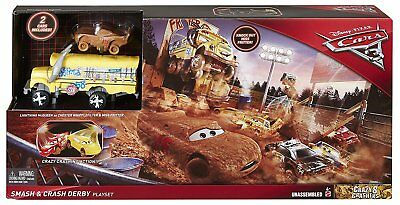 Disney Cars 3 Cooles Crash-Derby Spielset inkl. 2 Autos von Mattel