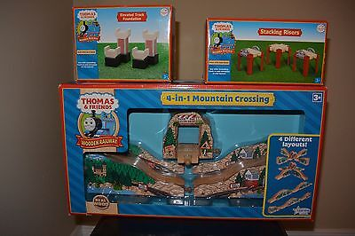 Thomas & Friends Wooden Railway 4-in-1 Mountain Crossing, Stacking Riser, ETF!