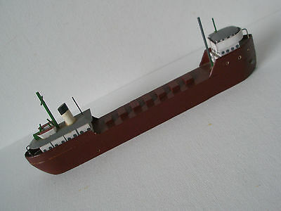 """Vintage  Wooden Model Of Great Lakes Ore Ship - 9 1/4"""" long"""