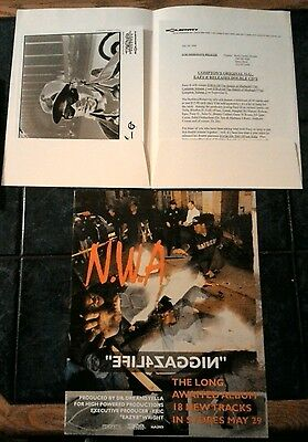1994 Eazy-E Press Kit &  Promo Photo ,free N.w.a Promo