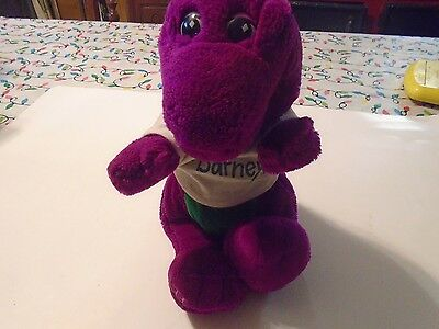 "Vintage Rare Barney The Dinosaur 13"" Plush with White T-Shirt by Lyons Group 199"