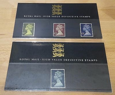 GB 1987 Definitive High Value Presentation Packs No 13 & 14 excellent condition