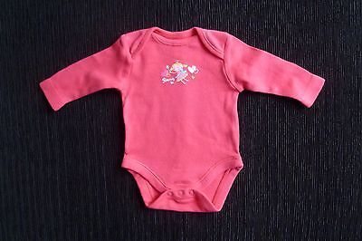 Baby clothes GIRL newborn 0-1m fairy/princess long sleeve bright pink bodysuit