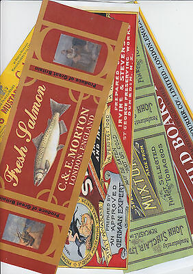 Set Of 11 Victorian Boer War Era Food,drink,and Tobacco  Labels (Repro)