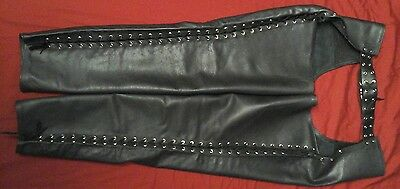 Universal Black Leather Chaps