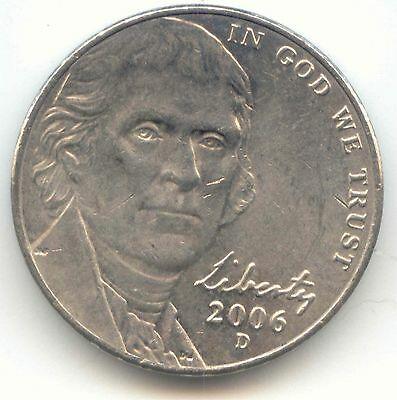 USA 2006D American Nickel Five cent piece 5c 5 Cents Jefferson EXACT COIN SHOWN