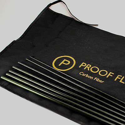Proof Fly Fishing Graphite fly rod blank (9' 5wt. seven piece travel rod) w/sock