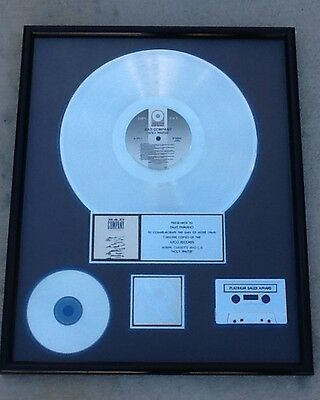 Authentic Bad Company Platinum Record Sales Award & Tour Book Riaa Tour Manager