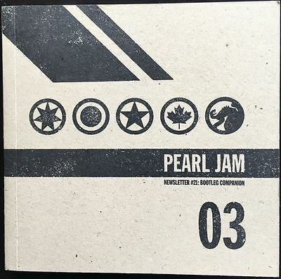 Pearl Jam 2003 Bootleg Companion - Ten Club Newsletter #21