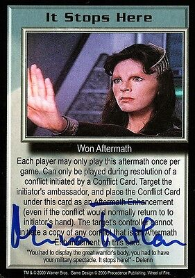 BABYLON 5 CCG Mira Furlan WHEEL OF FIRE It Stops Here AUTOGRAPHED