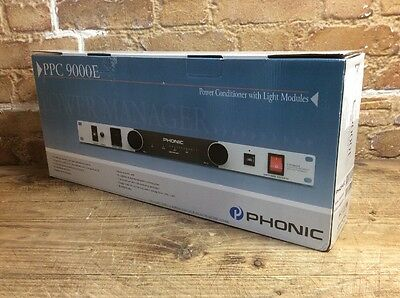 Phonic PPC9000E Power Conditioner and Light Module - 10 Outlet - New & Boxed