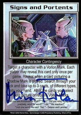BABYLON 5 CCG Mira Furlan WHEEL OF FIRE Signs and Portents AUTOGRAPHED