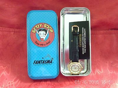 Betty Boop Fantasma Watch 1995 With Metal Tin Needs Battery