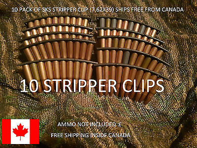 10x SKS AK stripper clips (10 pack), brand new. SHIPS FREE&FAST  FROM CANADA