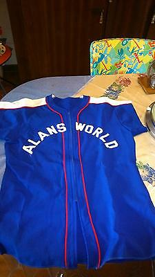 RARE CHEMISE BASE BALL  BLEU 1950's  TAILLE M.  MADE IN USA TBE