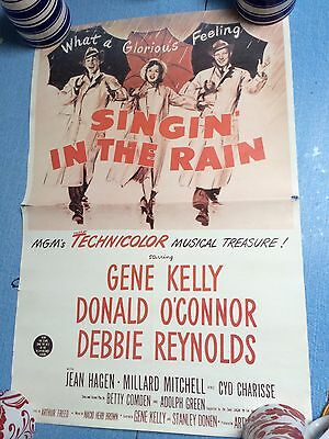 Singin In The Rain Original Vintage Movie Cinema POSTER 39.5 X 59.5 Cm