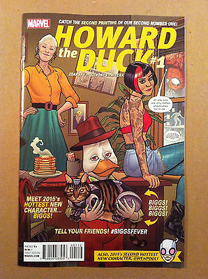 Howard The Duck V.5 #1 2Nd Printing Quinones Variant Cover Gwenpool Back-Up Nm