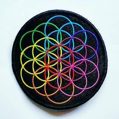 COLDPLAY ~ Flower of Life ~ Embroidered Patch / Badge ~ A Head Full of Dreams