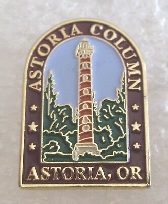 Astoria Column Historical Landmark - Oregon Travel Souvenir Collector Pin