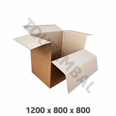 Container carton double cannelure 1200 x 800 x 800 mm