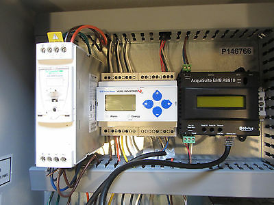 AcquiSuite EMB A8810, Veris E50 w/ 2 transducers, 3 LGate 101's, power monitor,