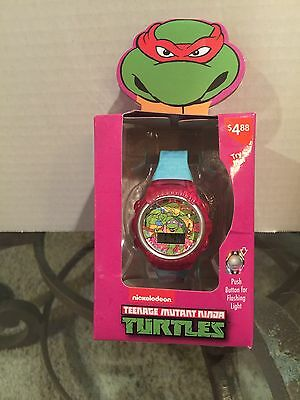 Girls Nickelodeon Teenage Mutant Ninja Turtles Flashing Lights LCD Wrist Watch