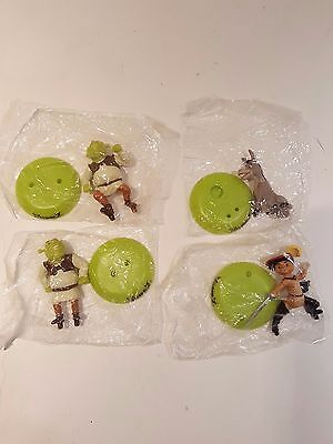 "2004 Dream Works Shrek 2 Miniature Figurines 2"" Action Figures (Lot Of 4)"