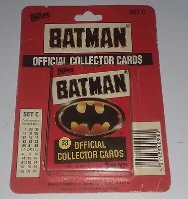 Batman 1989 Movie Official Topps Collector Cards Set C CiB
