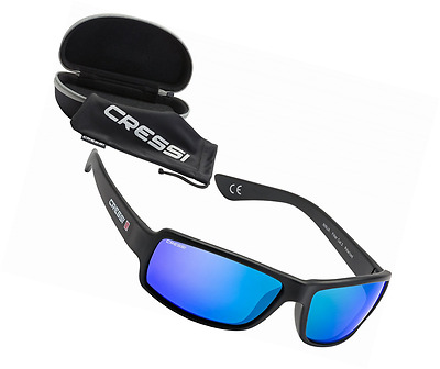 Cressi Ninja, Sunglasses Sport  Mens, Polarized Lenses,with Hard Case Since 1946