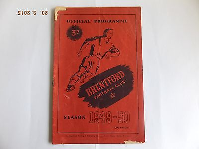 Brentford v Sheffield Wednesday - Division 2 - 1st Oct 1949