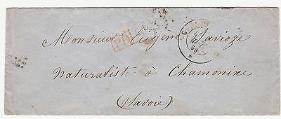 Italy 1858 Small Cover To Savoie
