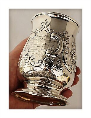 1783 George III Sterling Silver Agricultural Trophy Tankard. Westbury Sheep Fair