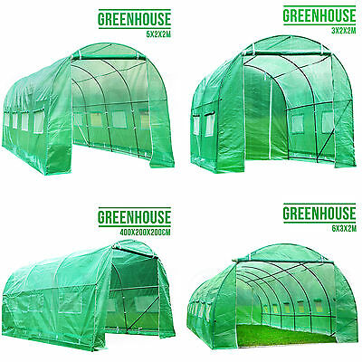 4 Size Fully Galvanised Steel Frame Poly Tunnel Greenhouse Polytunnel Tunnel