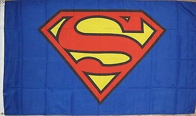 New 3' by 5' Superman Flag. Free Shipping in Canada.