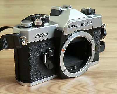 Fujica STX-1 35mm Film SLR Camera Body Only with Strap (Neck or Wrist)