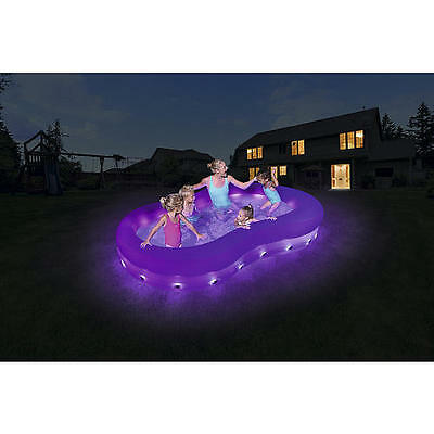 COLOR WAVE LIGHT UP SWIMMING POOL - 110 inch x 62 inch SUMMER JULY 4TH FUN