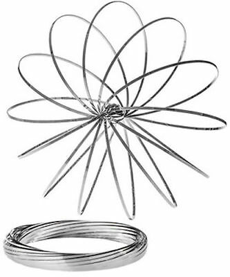 Flow Rings - Kinetic Flow Toy 3D Sculpture Ring Slinky Motion Toy New- Silver