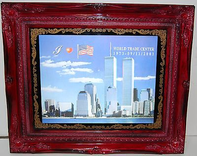 World Trade Center Framed Art 911 Twin Towers 2001 Holographic 3D picture