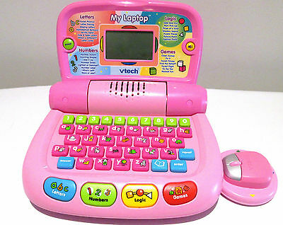 educational toys VTECH MY LAPTOP  MOUSE GAMES TOYS 30 maths phonics USED ONCE