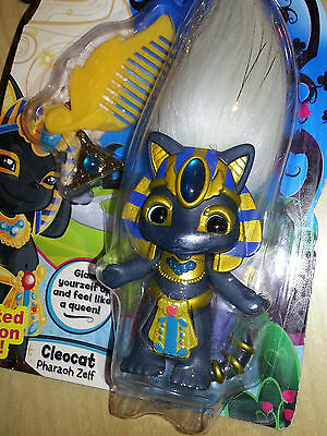 "MOC Zelfs Cleocat Pharaoh Egyptian cat 3"" figure NEW limited edition series 4"