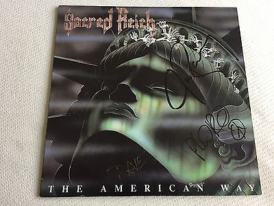 Sacred Reich - The American Way - Vinyl Lp, Signed By All The Band, Thrash Metal